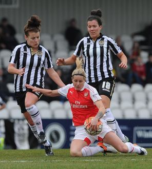 arsenal women/arsenal ladies v notts county ladies 3rd/kelly smith arsenal ladies angharad james