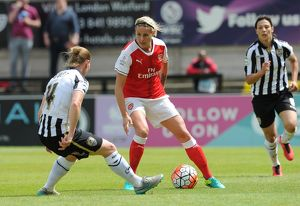 arsenal women/arsenal ladies v notts county wsl 10th july 2016/kelly smith arsenal ladies danielle buet