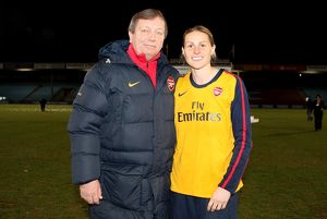 kelly smith arsenal with vic akers the