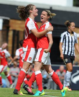 arsenal women/arsenal ladies v notts county wsl 10th july 2016/kelly smith dominique janssen arsenal ladies