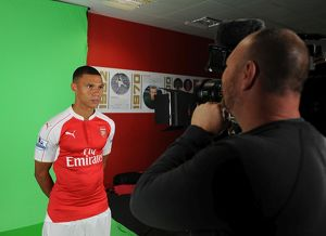 Kieran Gibbs (Arsenal). Arsenal 1st Team Photocall and Training Session. Emirates Stadium