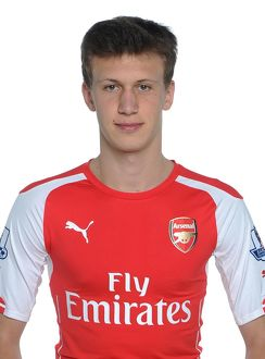 team/arsenal photocall 2014 15/krystian bielik arsenal signing photoshoot