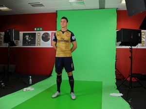Laurent Koscielny (Arsenal). Arsenal 1st Team Photcall and Training Session. Emirates