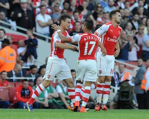 season 2014 15/arsenal v crystal palace 2014 15/laurent koscielny celebrates scoring arsenals