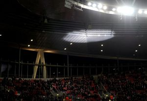 season 2014 15/arsenal v monaco 2104 15/light display pre match arsenal 13 monaco