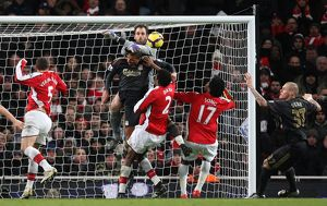 previous season matches/matches 2009 10 arsenal v liverpool 2009 10/manuel almunia arsenal david ngog liverpool