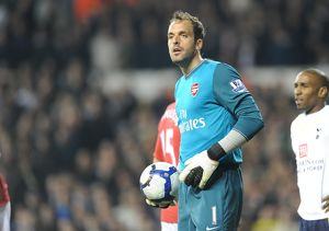 previous season matches/matches 2009 10 tottenham hotspur v arsenal 2009 10/manuel almunia arsenal tottenham hotspur 21 arsenal