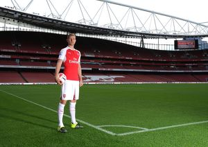 Per Mertesacker (Arsenal). Arsenal 1st Team Photcall and Training Session. Emirates