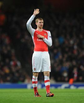 season 2014 15/arsenal v anderlecht 2014 15/mertesacker arsenal arsenal 33 anderlecht