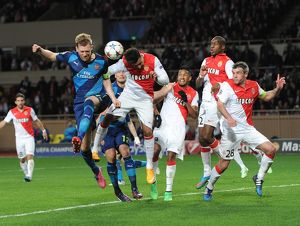 season 2014 15/monaco v arsenal 2014 15/mertesacker arsenal nabil dirar monaco monaco 0