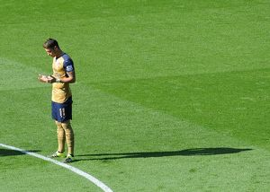 season 2015 16/leicester city v arsenal 2015 16/mesut ozil arsenal leicester city 25 arsenal
