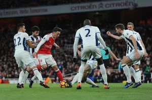 season 2016 17/arsenal v west bromwich albion 2016 17/mesut ozil arsenal takes nacer chadli claudio yacob