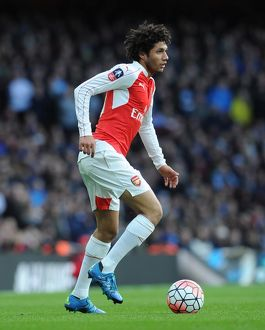 season 2015 16/arsenal v burnley fa cup 4th rd 2016/mohamed elneny arsenal arsenal 21 burnley