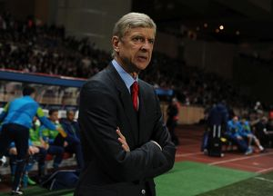 season 2014 15/monaco v arsenal 2014 15/monaco march 17 arsenal manager arsene wenger