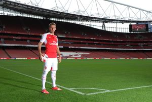 Nacho Monreal (Arsenal). Arsenal 1st Team Photcall and Training Session. Emirates Stadium