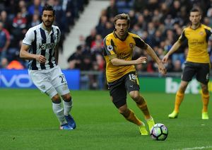 nacho monreal arsenal west bromwich albion 31 arsenal