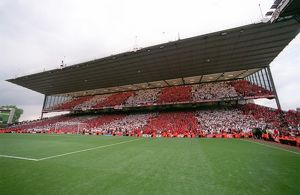 The North bank at the end of the match. Arsenal 4:2 Wigan Athletic