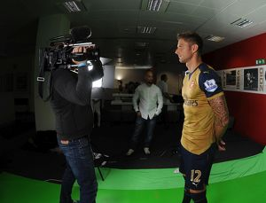 Olivier Giroud (Arsenal). Arsenal 1st Team Photocall and Training Session. Emirates