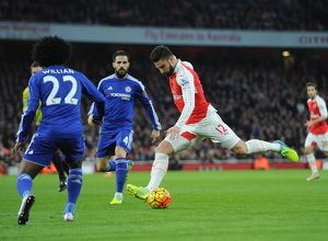 season 2015 16/arsenal v chelsea 2015 16/olivier giroud arsenal willian chelsea