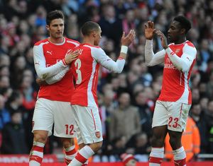 season 2014 15/arsenal v middlesbrough fa cup 2014 15/olivier giroud celebrates scoring arsenals 1st