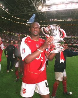 Patrick Vieira (Arsenal) with the FA Cup Trophy