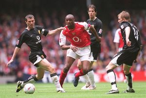 Patrick Vieira (Arsenal) Roy Keane and Darren Fletcher (Man Utd)