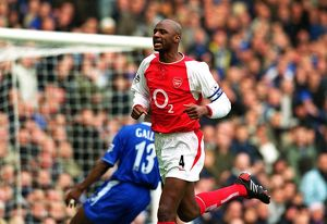Patrick Vieira celebrates scoring Arsenal's 1st goal