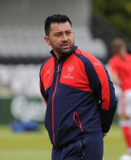 arsenal women/arsenal ladies v notts county wsl 10th july 2016/pedro martinez losa arsenal manager arsenal
