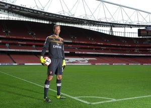 Petr Cech (Arsenal). Arsenal 1st Team Photcall and Training Session. Emirates Stadium