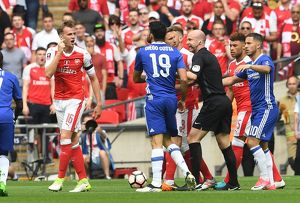 season 2016 17/arsenal v chelsea fa cup final 2017/rob holding arsenal diego costa chelsea