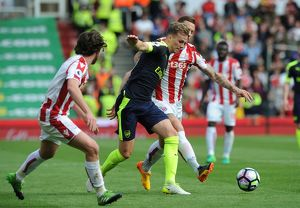 season 2016 17/stoke city v arsenal 2016 17/rob holding arsenal marko arnautovic stoke