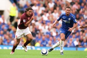 legends/ex players robert pires/robert pires arsenal frank lampard chelsea