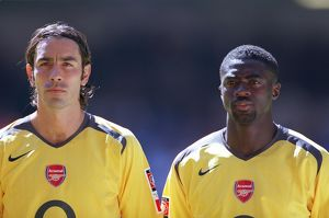 legends/ex players robert pires/robert pires kolo toure arsenal arsenal 12 chelsea