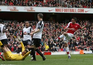 previous season matches/matches 2009 10 arsenal v fulham 2009 10/robin van persie scores arsenals 2nd goal
