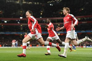 previous season matches/matches 2009 10 arsenal v fc porto 2009 10/samir nasri celebrates scoring 3rd arsenal