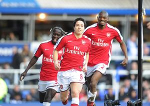 previous season matches/matches 2009 10 birmingham city v arsenal 2009 10/samir nasri shoots celebrates scoring arsenal
