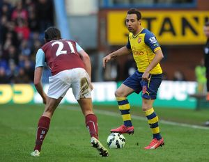season 2014 15/burnley v arsenal 2014 15/santi cazorla arsenal george boyd burnley