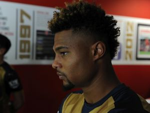 Serge Gnabry (Arsenal). Arsenal 1st Team Photcall. Emirates Stadium, 28/17/15. Credit