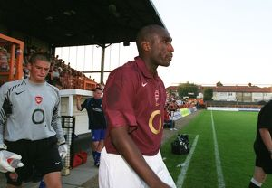 Sol Campbell (Arsenal). Arsenal Reserves 5:2 Leicester City Reserves