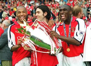 previous season matches/matches 2005 06 arsenal v everton/sol campbell robert pires thierry henry fa