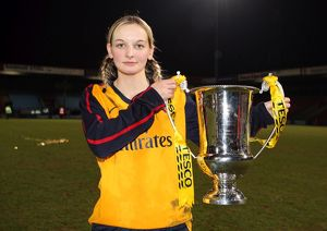 suzanne grant arsenal with the league cup