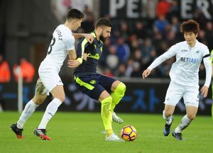 season 2016 17/swansea city v arsenal 2016 17/swansea city v arsenal premier league