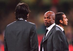 Sylvain Wiltord in his suit before the match. Arsenal 1:0 Southampton. The F