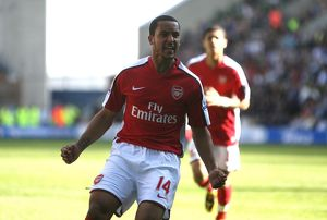 team/players coaches walcott theo/theo walcott celebrates scoring arsenals