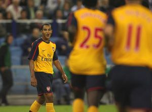 Theo Walcott celebrates after setting up the 2nd Arsenal goal