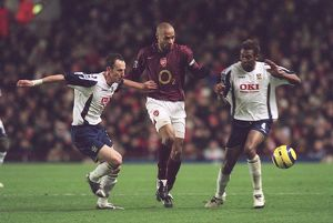 Thierry Henry (Arsenal) Andy O'Brien and John Viafara (Portsmouth)