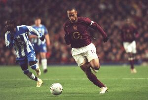Thierry Henry (Arsenal). Arsenal 2:1 Wigan Athletic
