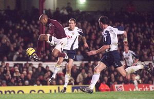 Thierry Henry (Arsenal) Brian Priske and Andy O'Brien (Portsmouth)