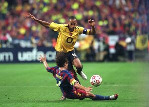 thierry henry arsenal carlos puyol barcelona