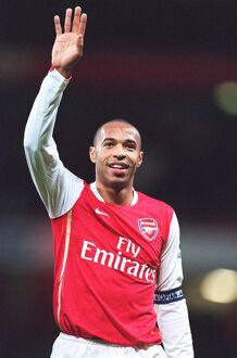 Thierry Henry (Arsenal) celebrates at the end of the match